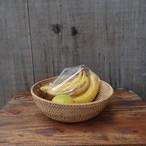 ラタンラウンドトレイ(直径25)ラタン トレイ みかん入れ くだもの入れ お菓子入れ トレー 小物入れ 籐 自然素材