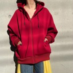 【hippiness】cutting parka(red)/【ヒッピネス】カッティングパーカー(レッド)