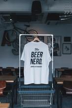 BEER NERD S/S TEE WHITE