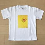 オールドTシャツ企画 スクエアプリントT オレンジ太陽no3 SSサイズ