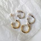 P1133 -  C Shape Hoop Pearl