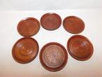 シンプルコースター(6客) wooden Japanese tea six saucers(No8)
