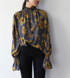 round neck pullover blouse 1611