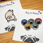 【8月上旬お届け】Pug & Peaceピンバッジ