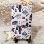 図形×星空 メッセージカード