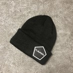 PENTAGON EMBLEM KNIT CAP (BLACK)