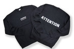 BIG LOGO sweat / ATTENTION 黒