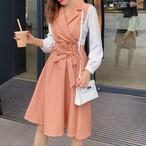 【dress】今大注目上品大振り裾ウエスト絞りワンピース25083876