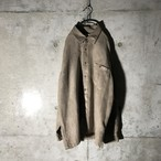 [used] thin brown like suede shirt