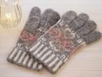 【編み物キット】アピラの手袋(ピンクタイプ)