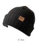 Leather Tag Beanie