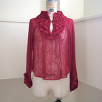 【RehersalL】lace trimming blouse(cherry) /【リハーズオール】レーストリミングブラウス(チェリー)
