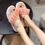 【shoes】切り替えスウィート注目される3色可愛い人気爆発スリッパ