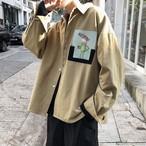 デザインロゴプリントカジュアルスプリングジャケット 春コーデ 韓流ファッション