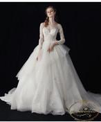 ladies wedding dress white long A-line happy ceremony 海外 ウエディングドレス ホワイト Aライン 結婚式 ガーデンパーティー レディース オーガンジー スマ婚 格安 ドレス