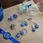 「雪の結晶」封蝋ピアスと封蝋イヤリングのセット