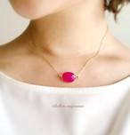 charme(魔法の薬) * 情熱の果実、レッドカルセドニーのネックレス