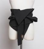 アシンメトリーリボンワイルドコルセットベルト 韓国ファッション