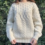 (LOOK) white knit sweater