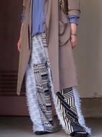 knit patchwork pants(Blue)