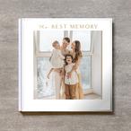 Square flame(白)-FAMILY_A4スクエア_6ページ/10カット_クラシックアルバム(アクリルカバー)