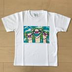 オールドTシャツ企画 スクエアプリントT ブタ3匹 SSサイズ