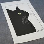 【ann nyström design】黒猫のタオル