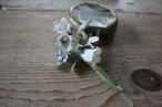 ツリガネソウの布花ブローチ