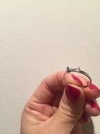 ribbon RING #1726 silver  リボンリング/シルバー