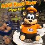 A&W グレートルートベア ソフビ 貯金箱 Root Beer bear コインバンク【D-006-065】