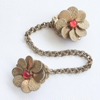 gold & red flower sweater clip[s-199]