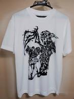 【Tシャツ】GARUDAレコ発記念トライバルアートTシャツ・白