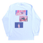 Girls Power L/S Tee(WHITE )