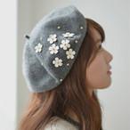 花 フラワー ベレー帽 ガーリー