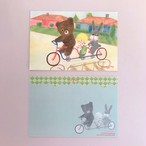 POST CARD「3人乗り自転車」no.127