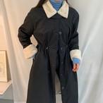 ファー襟 コート ロング丈 秋 冬 あったか 防寒 ウエストドロスト レディース ファッション 韓国 オルチャン