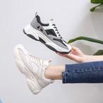 【shoes】スポーツ切り替え注目されるチュールスニーカー 22470452