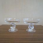 浅めのデザートグラス2個セット