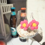 Knit Flower Piercing《PINK》