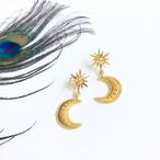 moon&sun gold pierce