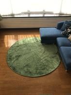 ホットカーペットカバー 床暖房に最適 フランネルラグ カーペット 直径140cm デスクカーペット