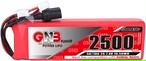 送信機用◆ガオニンGNB 2S2500mAh 5C 7.4V Battery  送信機用リポバッテリー に搭載可能 サイズ17(H)×29(W)×96(L)mm