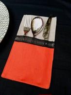 Curtlery Pocket Line Lace Sahara 6pieces カトラリーポケットラインレース サハラ6点セット