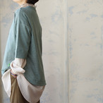 クローバー刺繍6分袖プルオーバー *プラネード