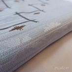正絹絽 水色に変わり格子の帯揚げ