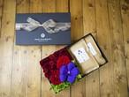 【贈り物】【お茶とお花のセットBOX C】〈お茶2種類〉