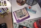 [PT-16] グリッター 二つ折り財布 パープル