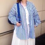 【sandglass】transform shirt(Blue) / 【サンドグラス】トランスフォーム シャツ(ブルー)