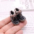 小さな革ブーツ|ブラック裏地付