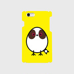 《癒やしの小鳥》シマエナガのオリジナルスマホケース(yellow)【送料無料】